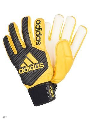 Вратарские перчатки CLASSIC PRO  CBLACK/EQTYEL Adidas. Цвет: черный, белый, желтый