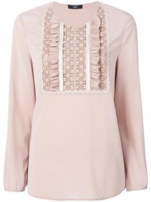 Блузка со складками Steffen Schraut. Цвет: розовый и фиолетовый