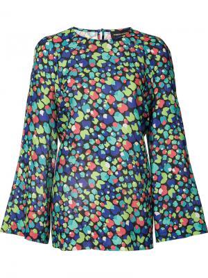 Блузка с цветочным принтом Vanessa Seward. Цвет: многоцветный