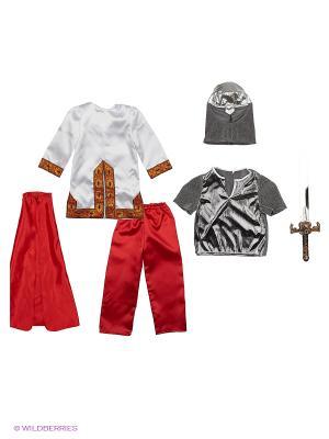 Карнавальный костюм БОГАТЫРЬ Батик. Цвет: красный