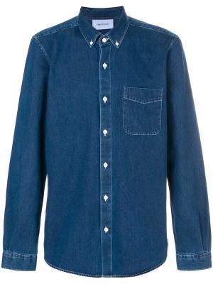 Джиновая рубашка Harmony Paris. Цвет: синий