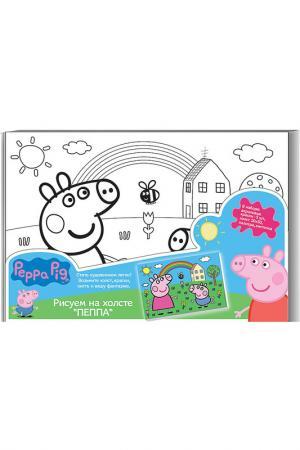 Роспись по холсту ПЕППА Peppa Pig. Цвет: голубой