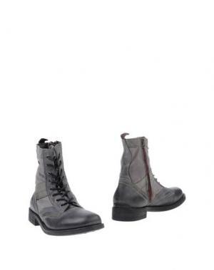 Полусапоги и высокие ботинки SMITH'S AMERICAN. Цвет: серый