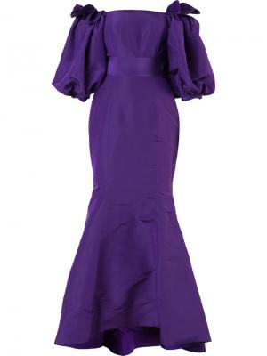 Вечернее платье Balloon Bambah. Цвет: розовый и фиолетовый