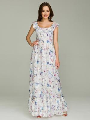Платье La vida rica. Цвет: серый меланж, голубой
