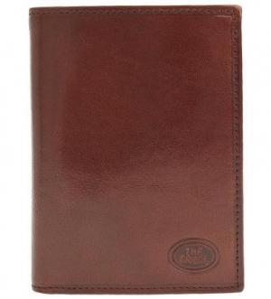 Коричневое портмоне из натуральной кожи The Bridge. Цвет: коричневый