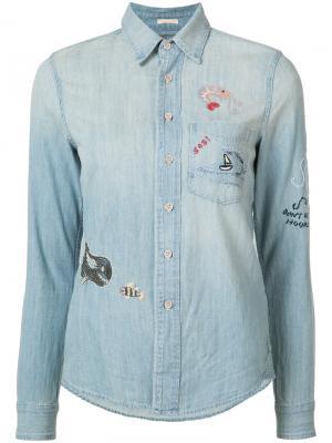 Джинсовая рубашка Mother. Цвет: синий