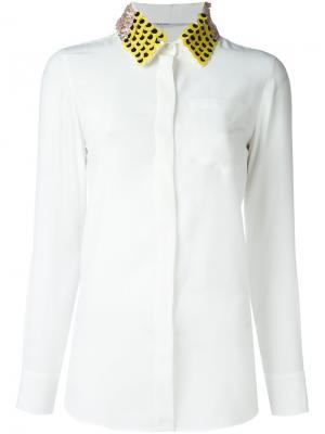 Рубашка с декорированным воротником Altuzarra. Цвет: белый