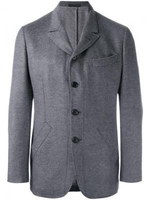 Пиджак с прямоугольными лацканами Caruso. Цвет: серый