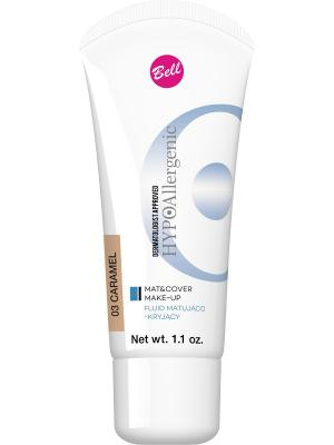 Bell Hypoallergenic Флюид Матирующий Тональный Гипоаллергенный Mat&cover Make-up Тон 03. Цвет: коричневый