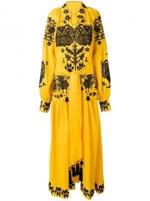 Платье Lions Yuliya Magdych. Цвет: жёлтый и оранжевый
