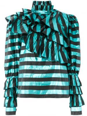 Блузка в полоску Alessandra Rich. Цвет: синий