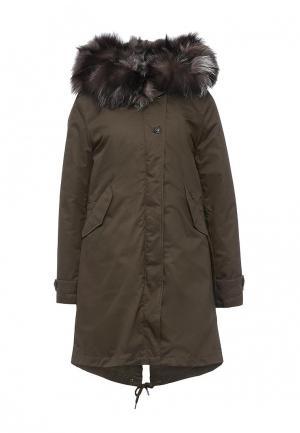 Куртка утепленная Woolrich. Цвет: хаки