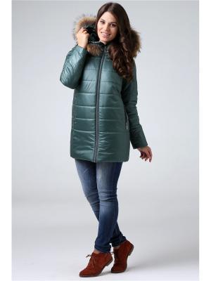Пальто Modress. Цвет: зеленый