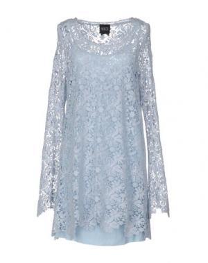 Короткое платье DUCK FARM. Цвет: светло-зеленый
