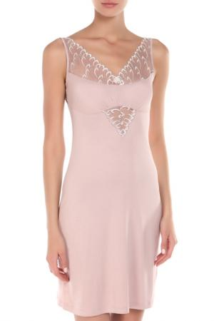 Сорочка BELARUSACHKA. Цвет: розовый, жемчужный