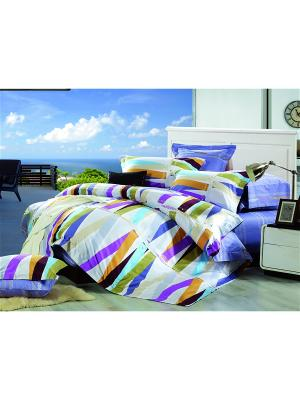 Комплект постельного белья 1.5 сп. Dream time. Цвет: синий, фиолетовый