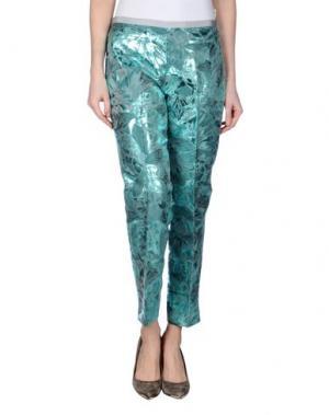 Повседневные брюки KILTIE. Цвет: бирюзовый
