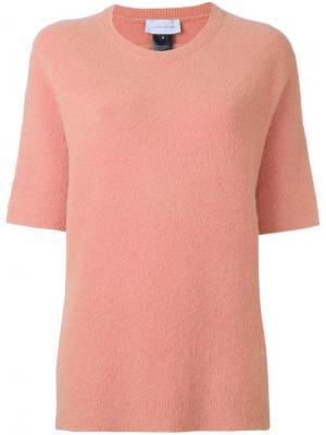 Джемпер с короткими рукавами Christian Wijnants. Цвет: розовый и фиолетовый