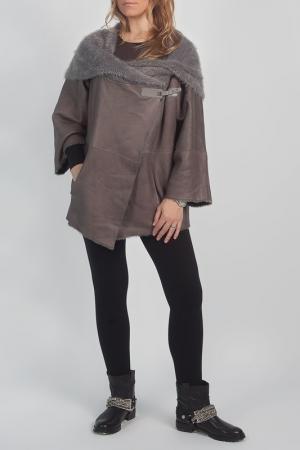 Дубленка STEVEN-K. Цвет: темно-серый
