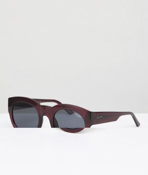 Quay Australia Красные круглые солнцезащитные очки If Only. Цвет: красный