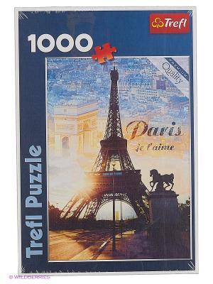 Пазлы Trefl Париж на рассвете, 1000 деталей. Цвет: синий
