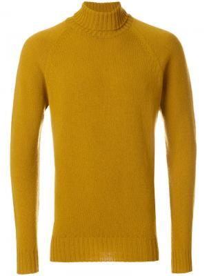 Водолазка Drumohr. Цвет: жёлтый и оранжевый