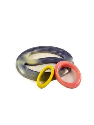 Пряжка Волшебная пуговица Овал инь-ян и кольцо для шарфа madam Пряжкина. Цвет: серый, бледно-розовый, желтый