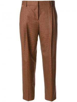 Укороченные строгие брюки Paul Smith. Цвет: коричневый