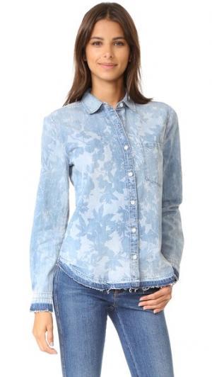 Рубашка Rosalin из денима Joe's Jeans. Цвет: голубой