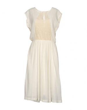 Платье длиной 3/4 DES PETITS HAUTS. Цвет: слоновая кость