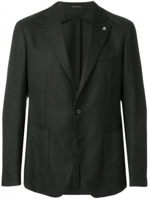 Классический пиджак Tagliatore. Цвет: серый