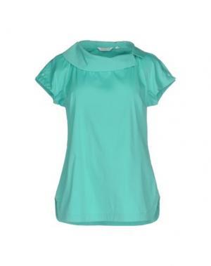 Блузка GUGLIELMINOTTI. Цвет: бирюзовый