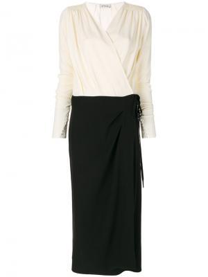 Длинное платье с запахом Attico. Цвет: чёрный