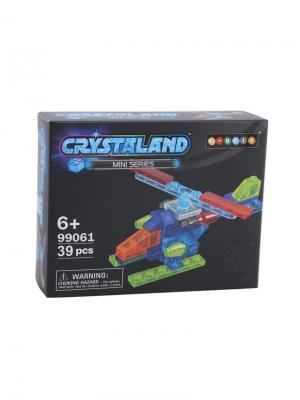 Светящийся конструктор Crystaland Мини Самолет 39 деталей Neocube. Цвет: фиолетовый
