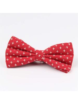 Галстук-бабочка Churchill accessories. Цвет: красный, белый