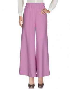 Повседневные брюки NATASHA ZINKO. Цвет: сиреневый