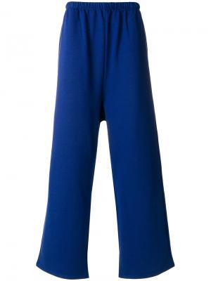 Slackened Tracksuit Pants Balenciaga. Цвет: синий