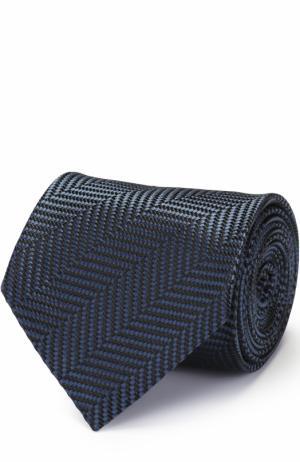 Шелковый галстук с узором Tom Ford. Цвет: синий