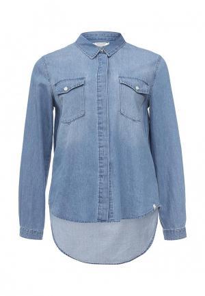 Рубашка джинсовая Volcom. Цвет: голубой