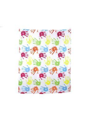 Занавеска (штора) для ванной комнаты тканевая 180x200 см Fiesta WESS. Цвет: оранжевый, зеленый, синий
