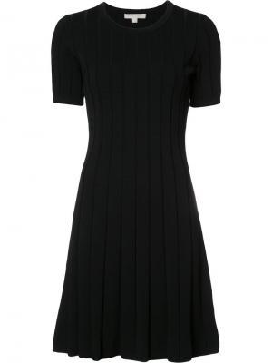 Плиссированное платье в полоску Jonathan Simkhai. Цвет: чёрный