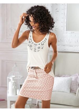Мини-юбка Linea Tesini. Цвет: розовый/белый