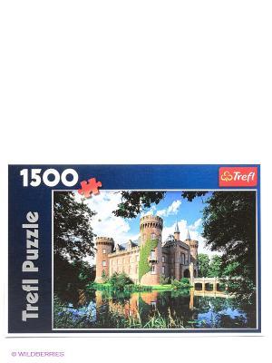 Пазл  Замок Мойланд, Северный РейнВестфалия, Германия Trefl. Цвет: синий