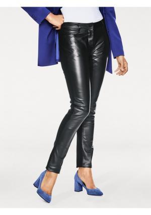 Кожаные брюки ASHLEY BROOKE by Heine. Цвет: черный