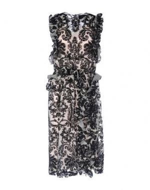 Платье длиной 3/4 SIMONE ROCHA. Цвет: бежевый