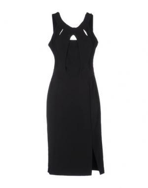 Платье до колена H2O ITALIA. Цвет: черный