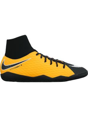 Бутсы HYPERVENOMX PHELON 3 DF IC Nike. Цвет: оранжевый