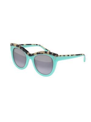 Солнцезащитные очки Stella McCartney. Цвет: голубой