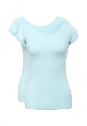 Комплект футболок 2 шт. oodji. Цвет: голубой